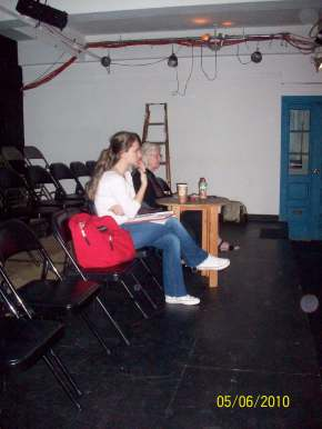 """Carol Sills rehearsals for the production of """"Tao of Chuang Chou"""". Working as a stage manager for her, I basically learned how to build a show, and to be able to say """"I don't know"""" without being afraid of the """"unknown"""""""
