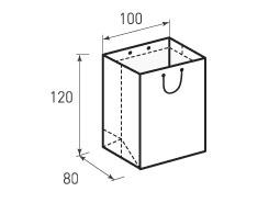 Вертикальный бумажный пакет В100x120x80