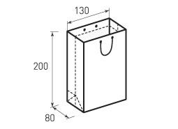 Вертикальный бумажный пакет В130x200x80
