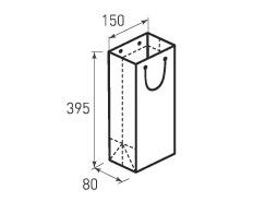 Вертикальный бумажный пакет В150x395x80