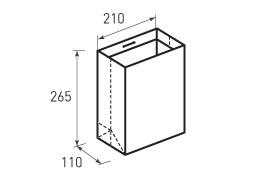Вертикальный бумажный пакет В210x265x110