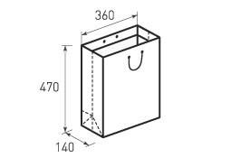 Вертикальный бумажный пакет В360x470x140