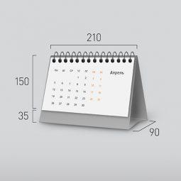Модель NG-2. Горизонтальный перекидной настольный календарь