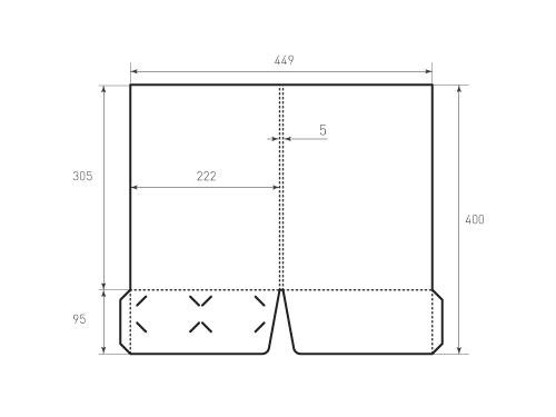 Штамп для вырубки папки фс 222x305x5 с 2 карманами. Привью 500x375 пикселов.