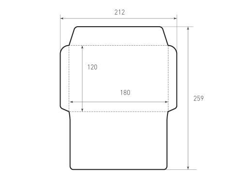 Конверт горизонтальный 180x120