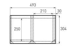 Вертикальный бумажный пакет V210x250x30
