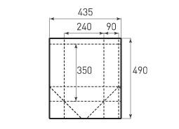 Вертикальный бумажный пакет V240x350x180