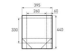 Вертикальный бумажный пакет V260x330x120