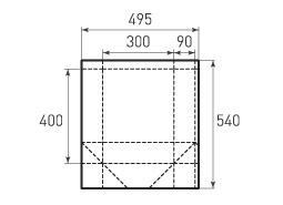 Вертикальный бумажный пакет V300x400x180