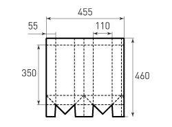 Вертикальный бумажный пакет под бутылку v110x350x110