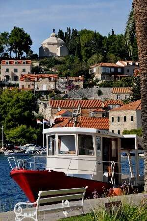 Cavtat boats on the waterside