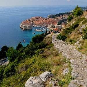 The walk back to Dubrovnik