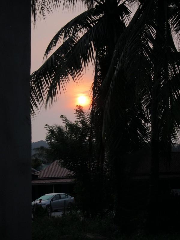 Sunrise in the kampung