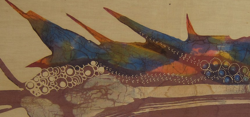 Batik art in the master bedroom