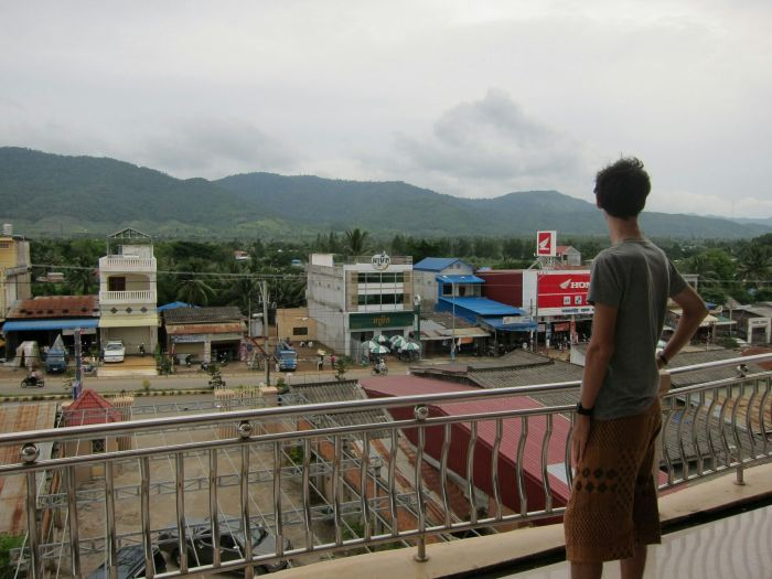 The view of Pailin town from the top of our 'guest house', the Pailin Ruby.