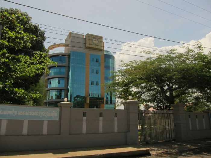 The first high rise building we saw in Cambodia