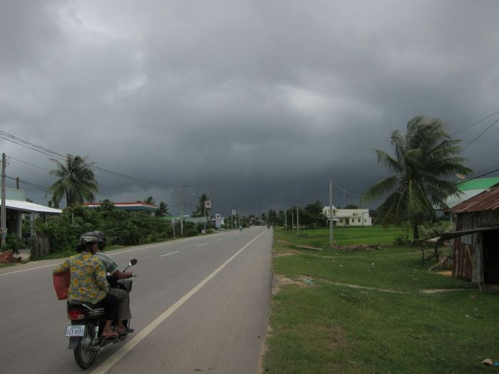 And this is what it looks like from the other side, with a storm approaching.