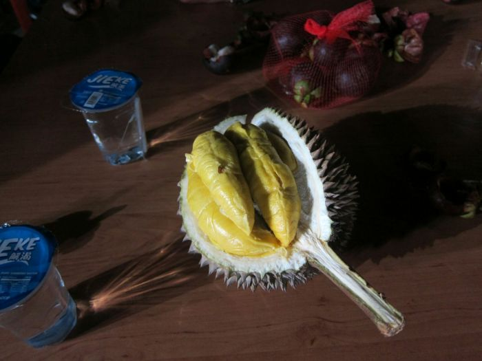 Another stop for The Chicken Rice Bus: Durian.