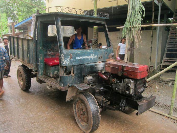 Your stock standard Myanmar truck.