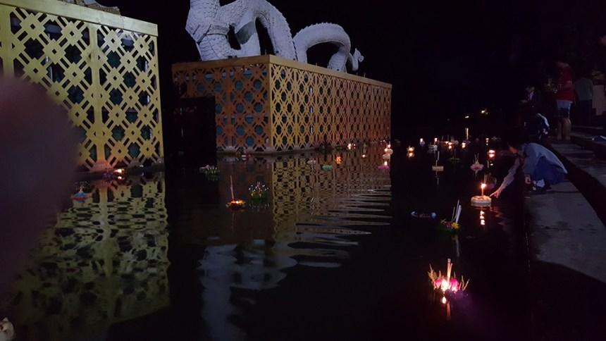 Loi Krathong Festival, Phayao, Thailand 2015
