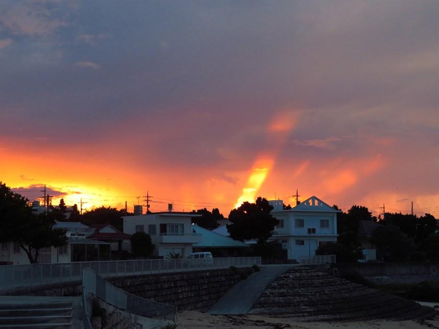 sunrise, ikei island, okinawa