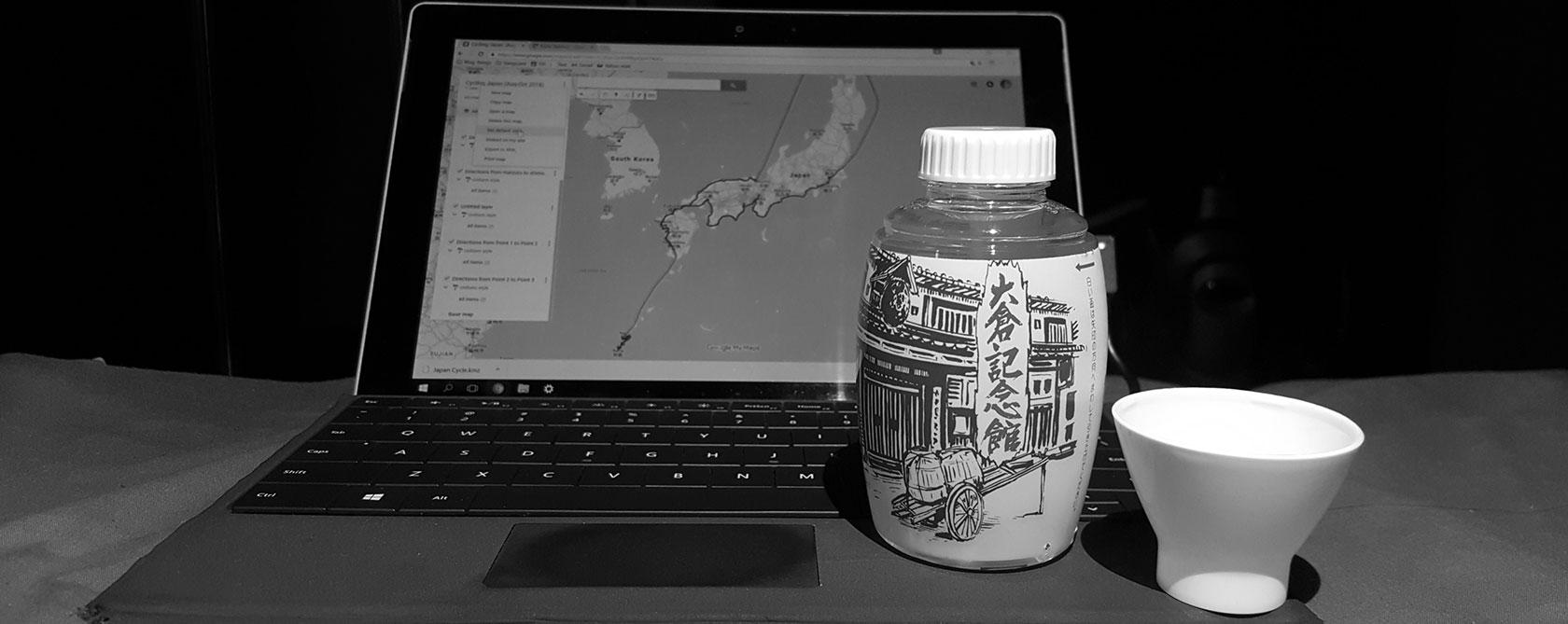 cycle touring, japan, bicycle, cycling, sake, map