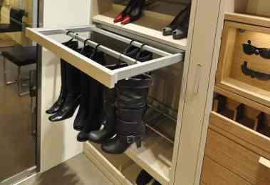 boot hanging storage in schmalenbach luxury closet