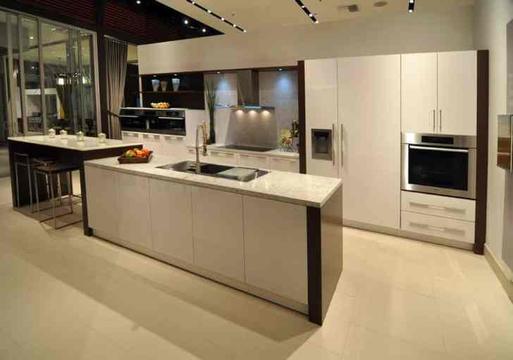 sleek modern white eat-in kitchen by eggersmann in lille icy white finish