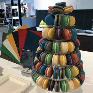 tower of colorful treats served to guests at the color forecast event in 2019