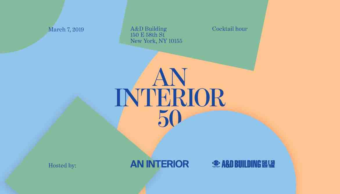 announcement of 2nd Annual Editors' Choice Awards for the Top 50 Most Influential Interior Architects practicing today in the US.