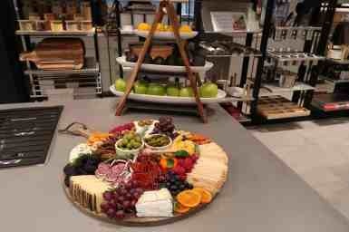 Popular food stylist, Meg Quinn's, cheese and relish tray delighted participants at the eggersmann LA event sponsored by Cosentino