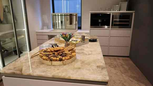 instagram insights for business workshop snacks in one of the kitchens at eggersmann chicago