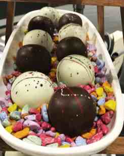 curated art exhibition at eggersmann dallas featured hand-dipped truffles by chocolate secrets