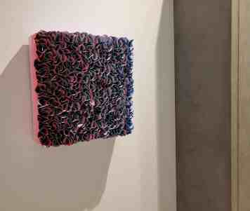 curated art exhibition at eggersmann dallas featured this wall art by zhuang hong yi