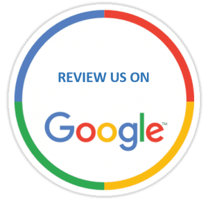 an icon to click to leave us a review on google