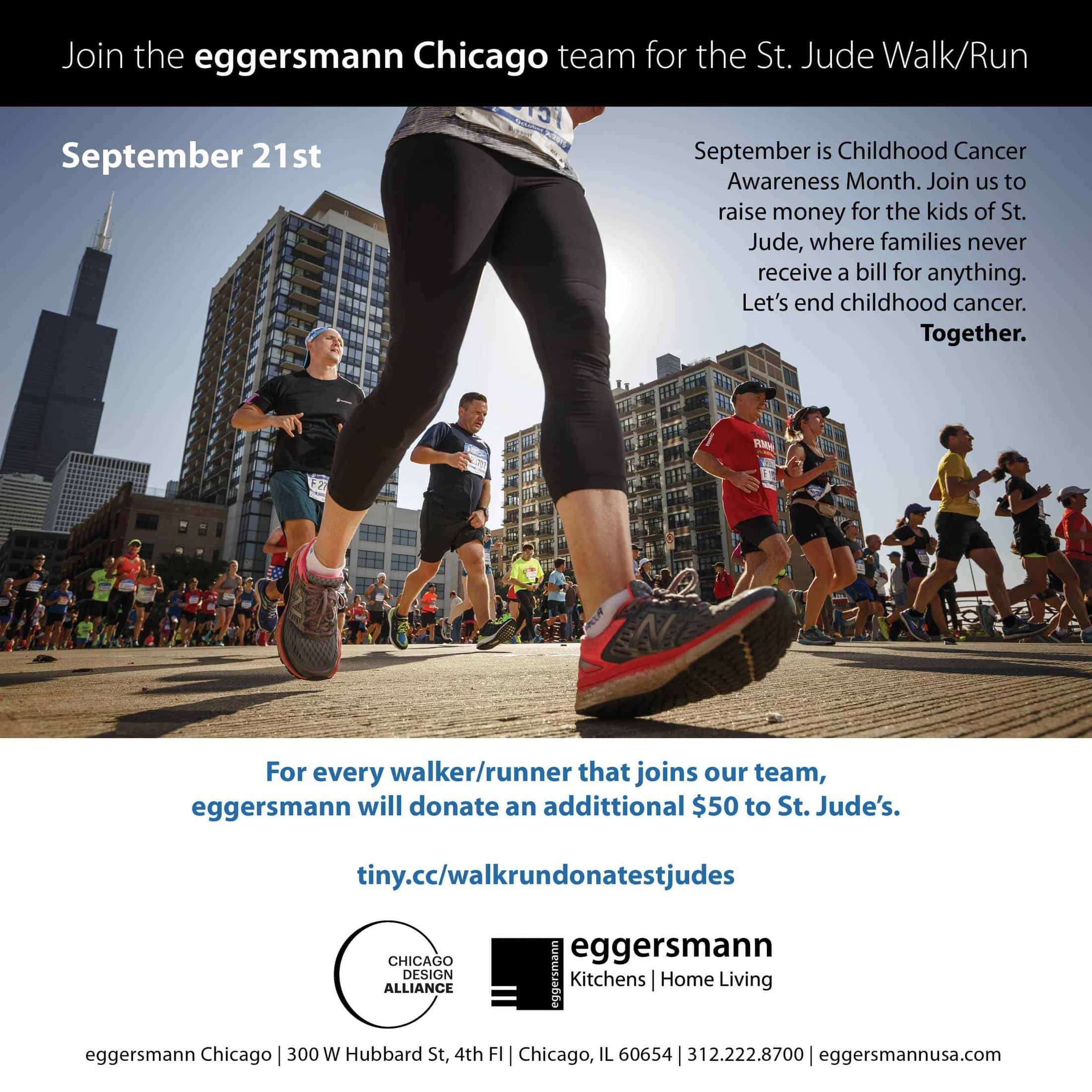 Join eggersmann chicago for the st jude's walk & run