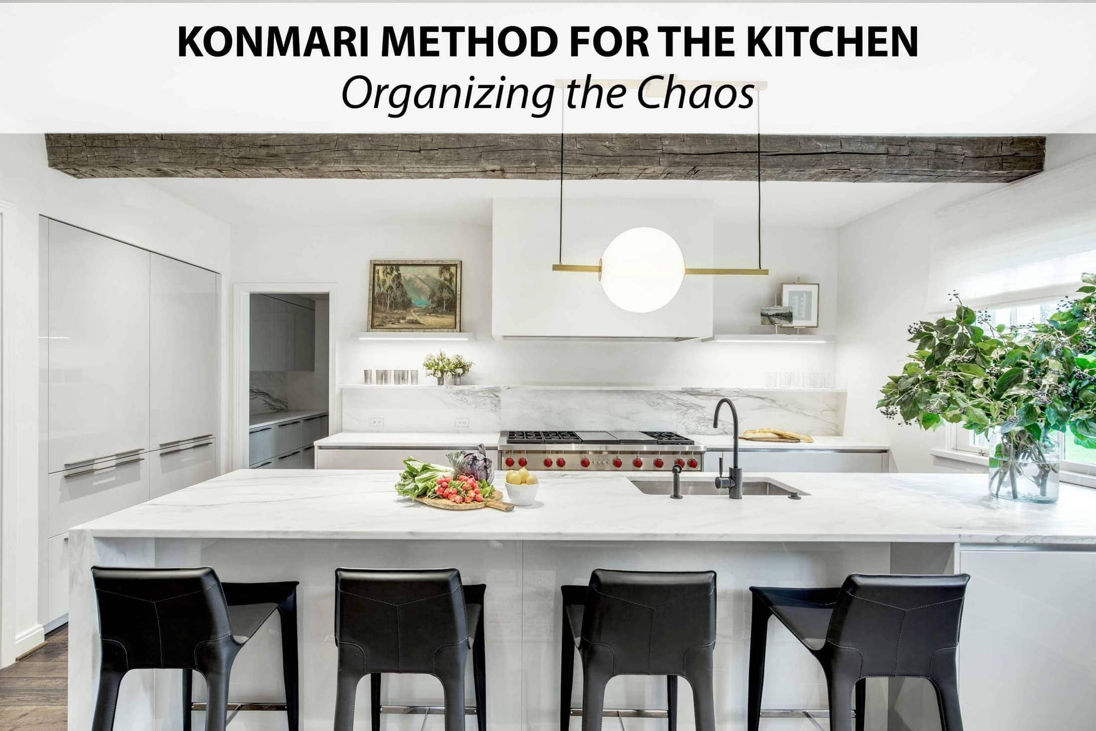 konmari kitchen organizing method
