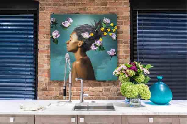 michael van zeyl artwork featured at the rndd gallery walk 2019 inside the eggersmann chicago showroom
