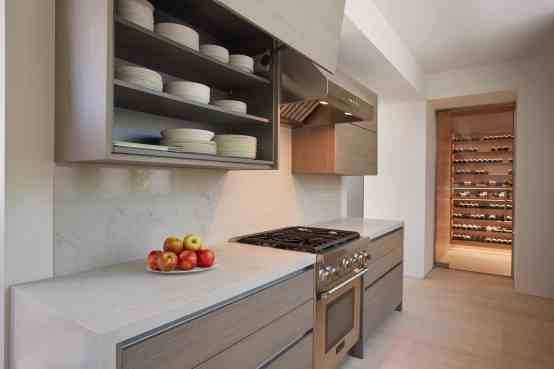 Fold-up cabinet doors are convenient and stylish
