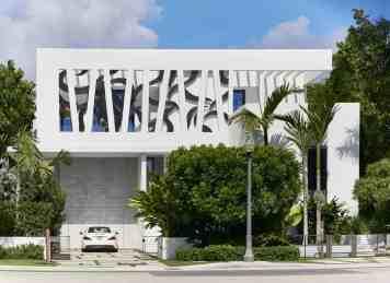 Jernigans' modern Miami home facade