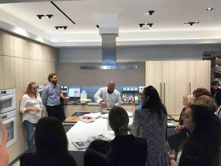 cooking demonstration by chef saul for the attendees of a january 2020 estate master class