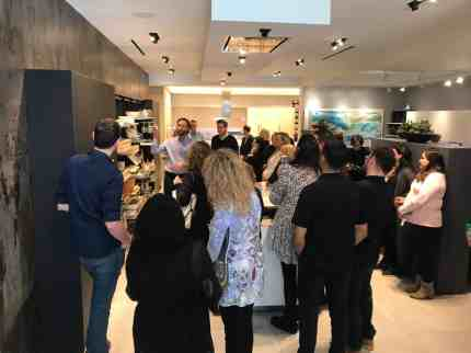 attendees of a january 2020 estate master class tour the eggersmann la showroom