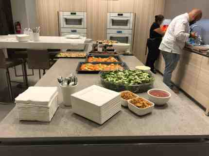 refreshments and a gourmet meal prepared by chef saul for the attendees of a january 2020 estate master class