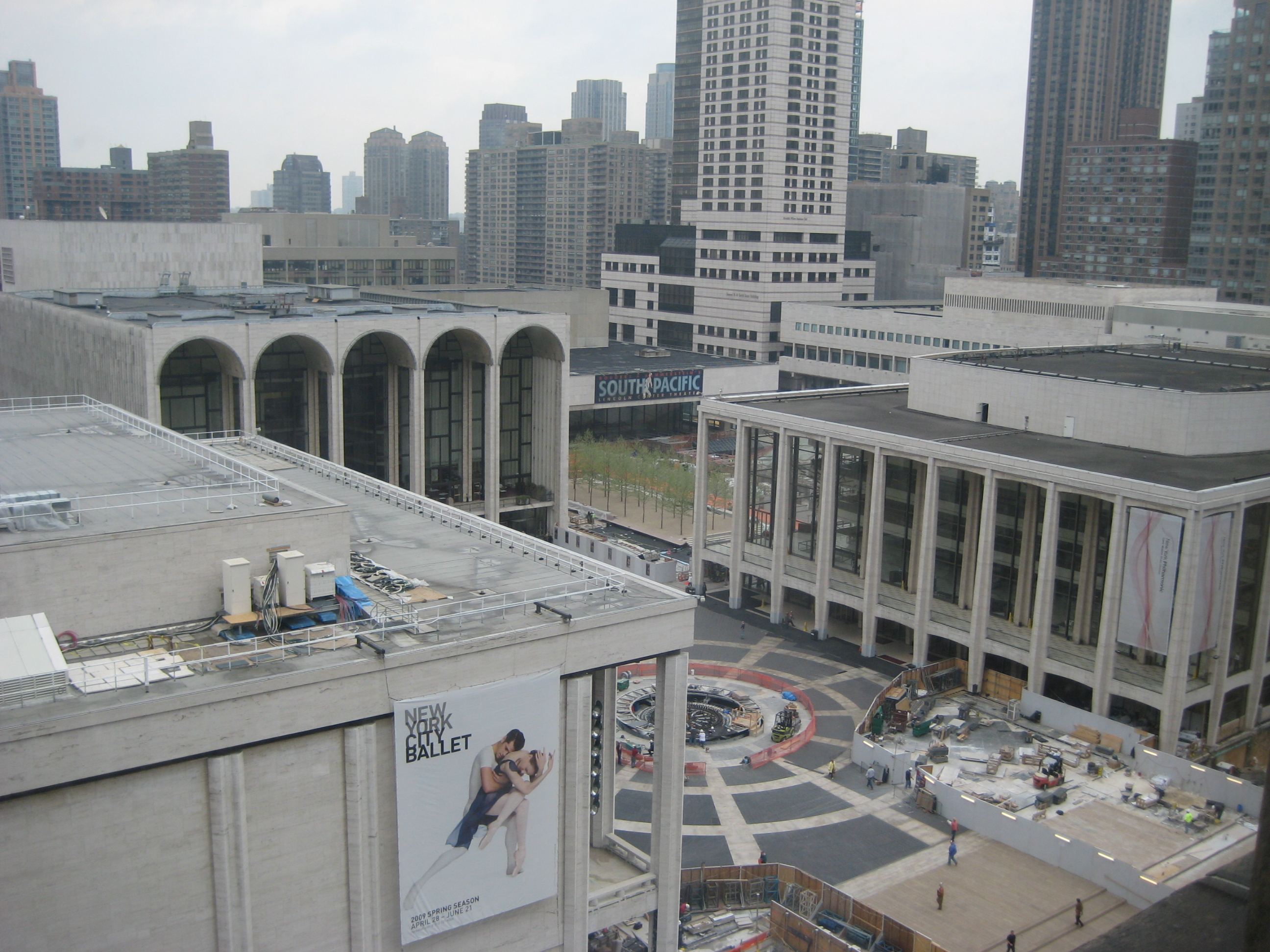 View of Lincoln Center from 11th Floor Room
