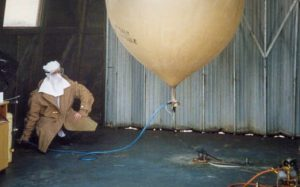 1990_Falklands_Weather_Balloon_Launch