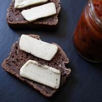aged cheddar, brown bread + tomato chutney