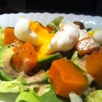 Recipe: Soft-boiled Egg on Pumpkin and Avocado Salad