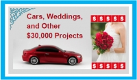 Cars, Weddings, and Other $30,000 Projects