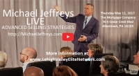 Event: Lehigh Valley Elite Network presents Michael Jeffreys LIVE | ADVANCED SELLING STRATEGIES - May 11 @ 7:30am