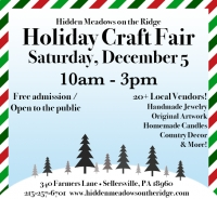 Holiday Craft Show this Saturday